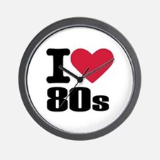 I love 80's Wall Clock
