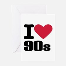 I love 90's Greeting Cards (Pk of 20)