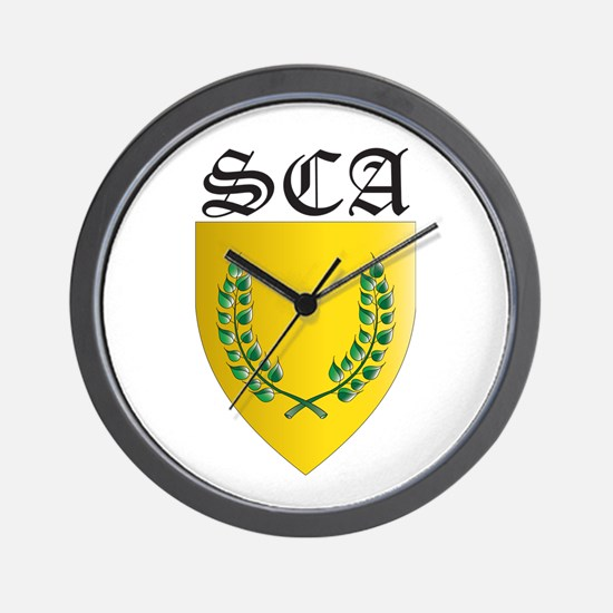 SCA Office Badges MOY Wall Clock