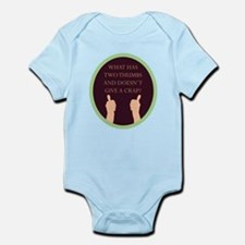 What Has Two Thumbs Infant Bodysuit