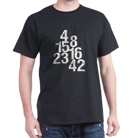 Eroded LOST Numbers Dark T-Shirt