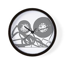 Music Tape Reels Wall Clock