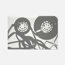 Music Tape Reels Rectangle Magnet