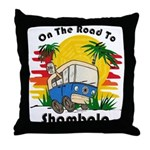 Road To Shambala Throw Pillow