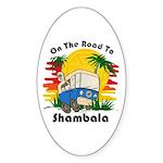 Road To Shambala Sticker (Oval 10 pk)