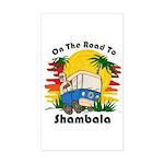 Road To Shambala Sticker (Rectangle)