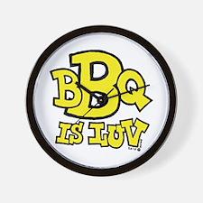 BBQ is Luv Wall Clock