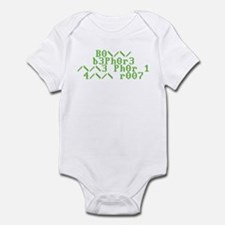 Bow before me for i am root Infant Bodysuit