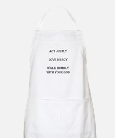 Micah 6:8 What the Lord Requi BBQ Apron