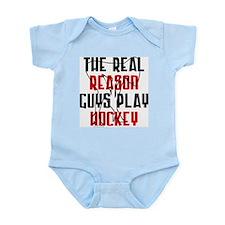 Real reason play hockey Infant Creeper