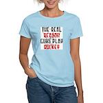 Real reason play hockey Women's Pink T-Shirt