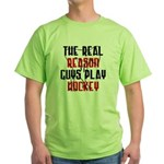 Real reason play hockey Green T-Shirt