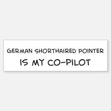 German Shorthaired Pointer Bumper Car Car Sticker