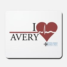 I Heart Avery - Grey's Anatom Mousepad