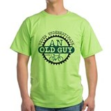 Never underestimate an old guy with a bicycle Green T-Shirt