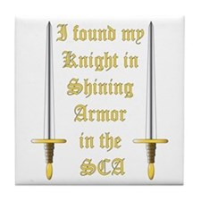 Knight in Shining Armor Tile Coaster