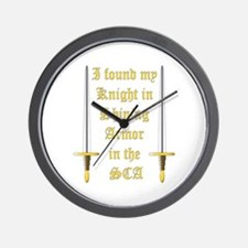 Knight in Shining Armor Wall Clock