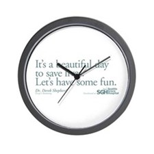 Save some lives. - Grey's Anatomy Wall Clock