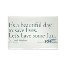 Save some lives. - Grey's Anatomy Rectangle Magnet