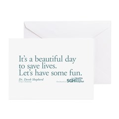 Save some lives. - Grey's Anatomy Greeting Cards (