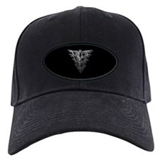 Bat Black Baseball Hat