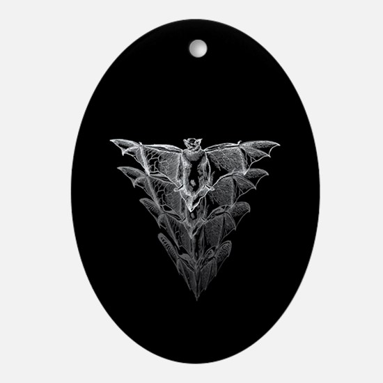 Bat Black Ornament (Oval)