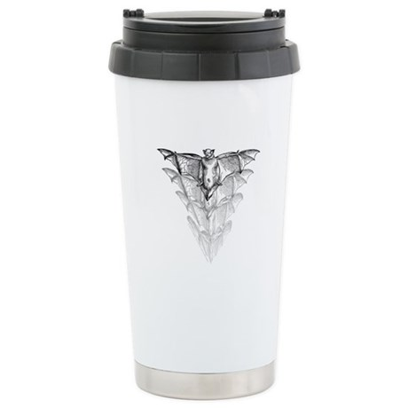 Bat Black Stainless Steel Travel Mug