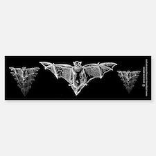 Bat Black Bumper Bumper Sticker