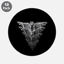 """Bat Black 3.5"""" Button (10 pack)"""