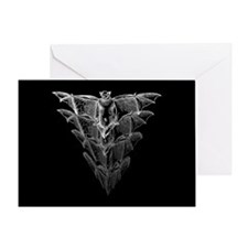 Bat Black Greeting Card