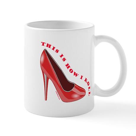 RED HIGH HEEL SHOES Mug