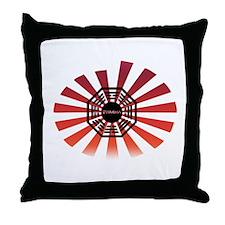 Dharma Red Swirl Throw Pillow