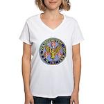 USS WARRINGTON Women's V-Neck T-Shirt
