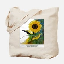 Goldfinch and Sunflower Tote Bag