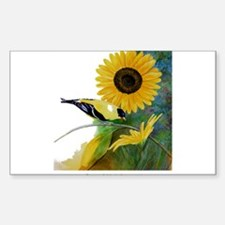 Goldfinch and Sunflower Decal