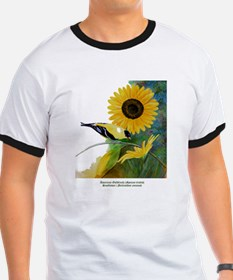 Goldfinch and Sunflower T