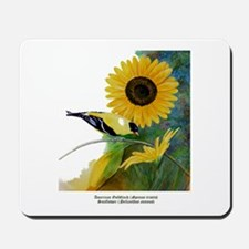 Goldfinch and Sunflower Mousepad