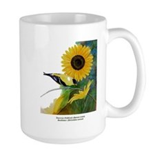 Goldfinch and Sunflower Mug