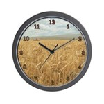 Whole Grain Fishing Wall Clock