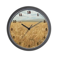 Whole Grain Fishing Wall Clock