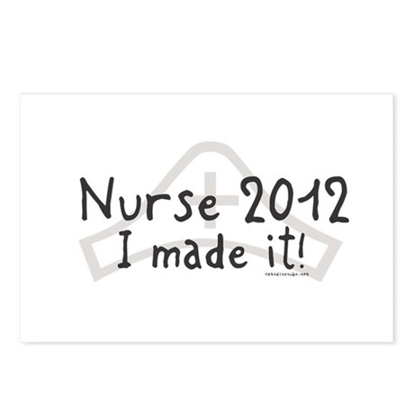 Nurse Graduated 2012 Postcards (Package of 8)