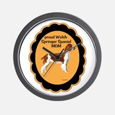 Welsh springer Spaniel Mom Wall Clock