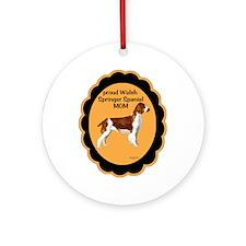 Welsh springer Spaniel Mom Ornament (Round)