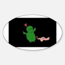 Cthulhu & Shoggy Sticker (Oval)
