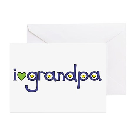 i <3 grandpa Greeting Cards (Pk of 10)