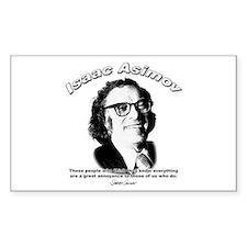 Isaac Asimov 03 Rectangle Decal