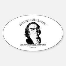 Isaac Asimov 03 Oval Decal