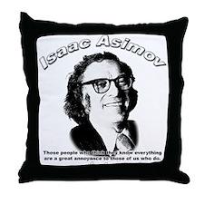 Isaac Asimov 03 Throw Pillow