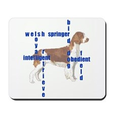 Welsh Springer spaniel Crossw Mousepad