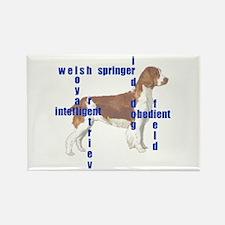 Welsh Springer spaniel Crossw Rectangle Magnet